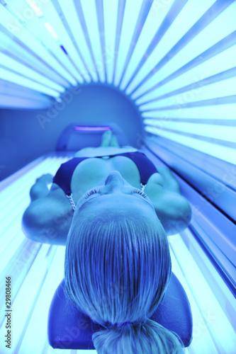 beauty and spa solarium treatment Canvas Print