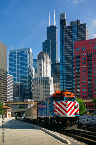 Chicago Metra Train Wallpaper Mural