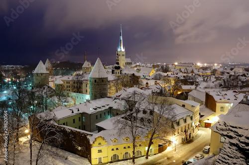 Fotografie, Obraz  Fires of winter old Tallinn