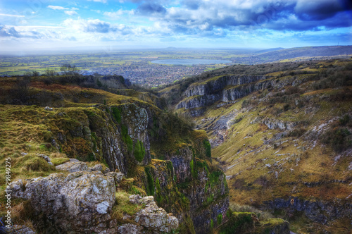 Fotografía Stunning landscape across top of ancient mountain gorge