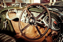 Classic Car Steering Wheel And...