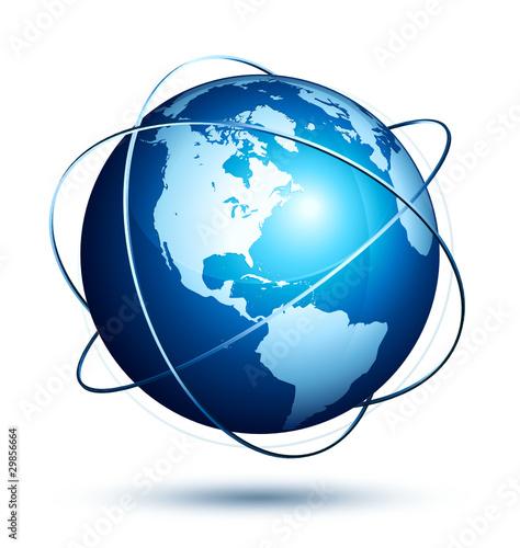 Obraz planète terre internet - fototapety do salonu
