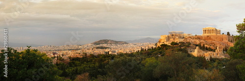 Poster Athens acropolis panoramic view