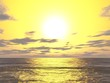 canvas print picture - Sonnenuntergang über dem Meer
