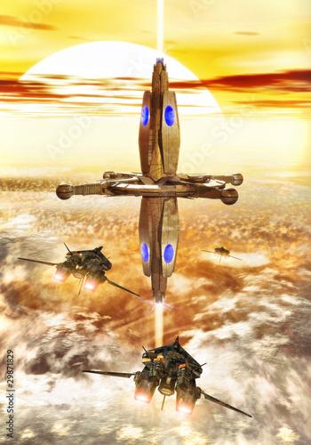 statek-kosmiczny-i-stacja-kosmiczna