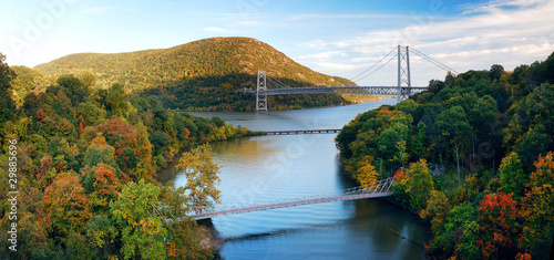 Hudson River valley panorama Tablou Canvas