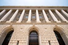 Imposing Facade Of IRS Building Washington DC, USA