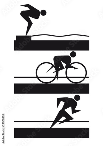 Triathlon Logo Wallpaper Mural