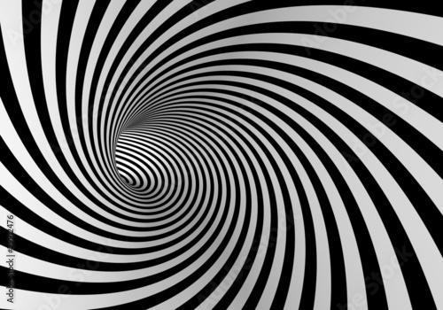Plakaty czarno białe czarno-biala-spirala