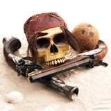 Pirate skull closeup