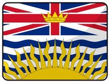 Drapeau Colombie Britannique British Columbia Canada