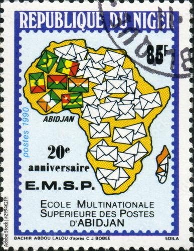 Fotografering  Ecole multinationale des postes d'Abidjan. Niger.