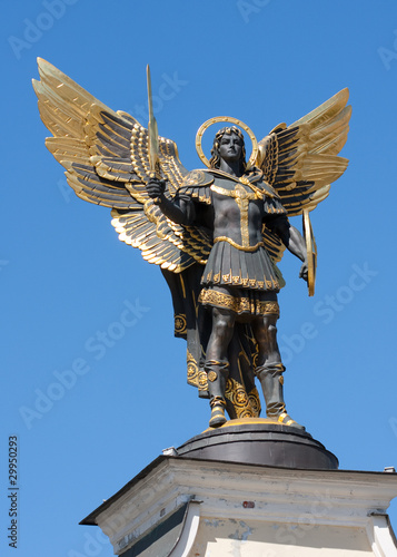 Archangel Michael in Kiev Canvas Print