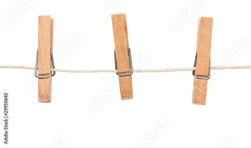 Cuadros en Lienzo  Clothespin on clothesline