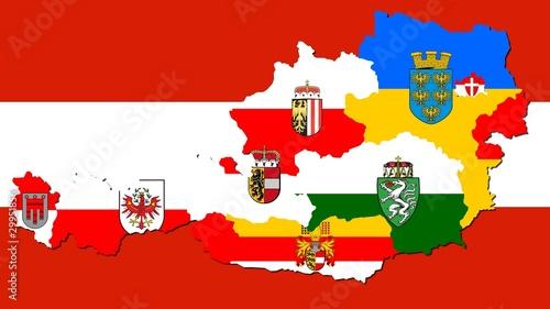 Foto-Stoff bedruckt - Collage aus Österreichs Bundesländer (von Sven Knie)