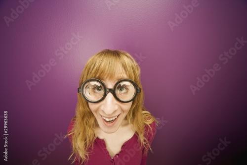 Wallpaper Mural Woman Wearing Prop Eyeglasses
