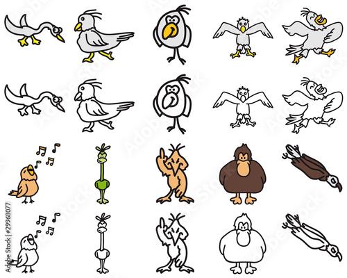 Foto-Lamellen (Lamellen ohne Schiene) - Birds 1 (von Style-o-Mat)