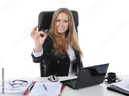Fotografie, Obraz  Beautiful office worker.