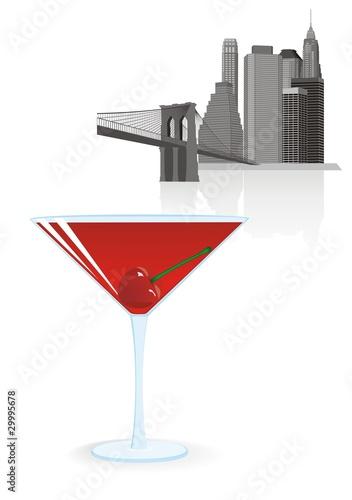 Photo cocktail manhattan