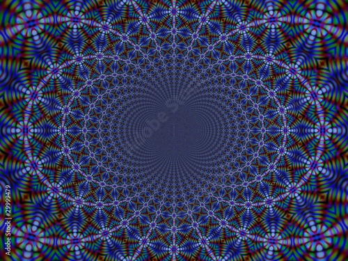 Poster Psychedelique Colored fractal light