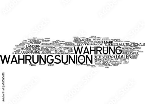 Fotografering  Währungsunion