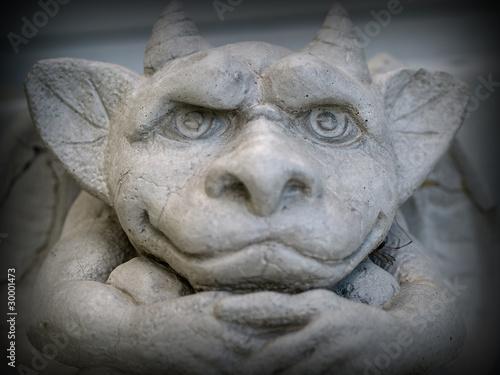 Fotografie, Obraz Gargoyle Statue