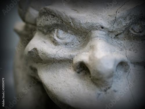 Canvas Print Gargoyle Statue