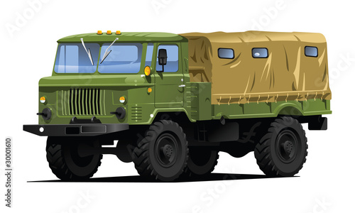 Poster Militaire military truck