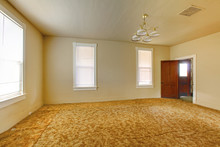 A Very Old Empty Living  Room ...