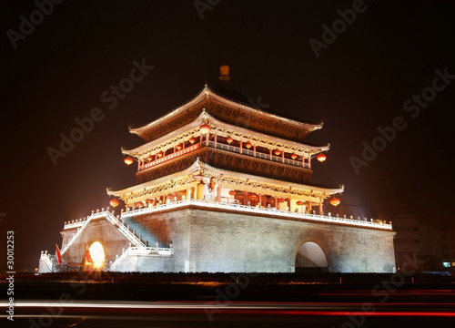 Ancient city gate tower in xi'an of china