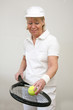 canvas print picture - Frau beim Tennis 3