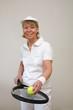 canvas print picture - Frau beim Tennis 2