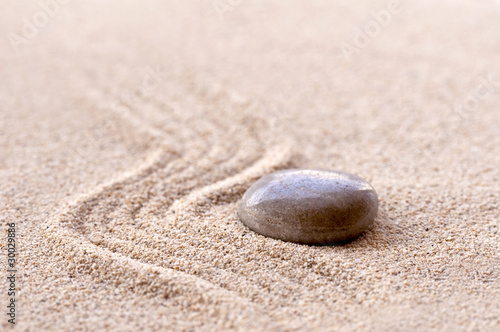 Photo sur Plexiglas Zen pierres a sable Sable et galet zen