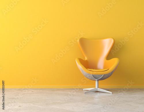 Fotografia yellow interior copy space