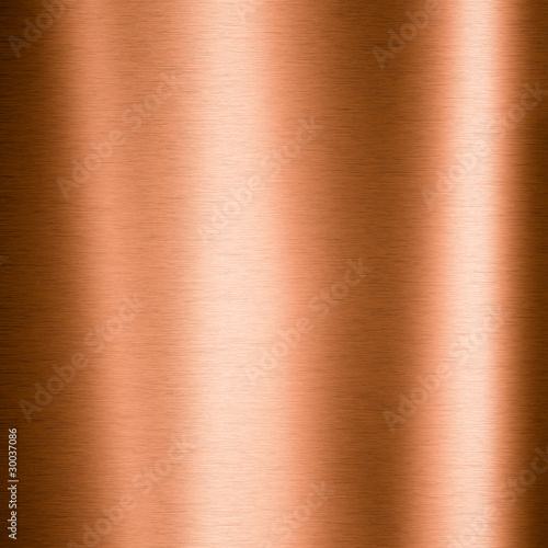 Fotografia, Obraz Brushed copper metallic sheet