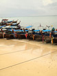 Long Boats on the Beach Phi Phi Island , Thailand