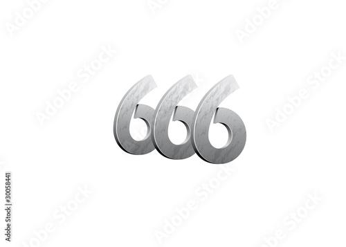 Photo  Chiffres 666