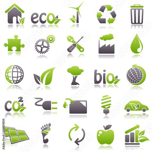 Fotografie, Obraz  ecology Green Icons
