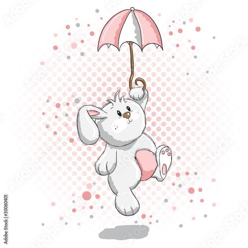 Foto-Lamellen (Lamellen ohne Schiene) - Cute rabbit - pink details (von adrijanavs)