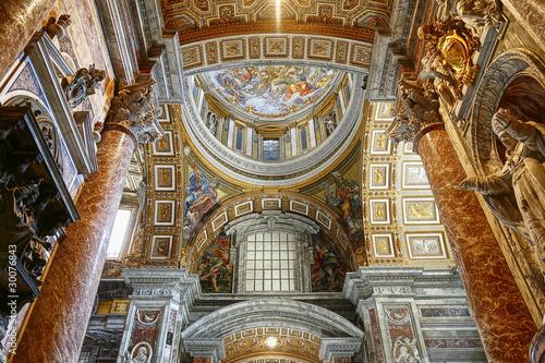 Rome Interior of St Peter's Basilica