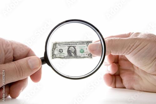 Valokuvatapetti Inflation shrinking value of US dollar