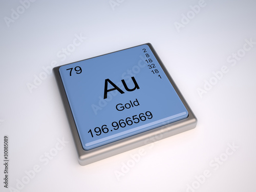 Gold Chemical Element Of The Periodic Table With Symbol Au Buy