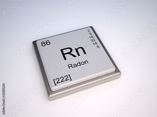 Radon Chemical Element Of The Periodic Table With Symbol Rn Buy