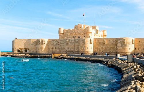 the fortress in Alexandria, Egypt Wallpaper Mural
