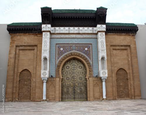 Recess Fitting Morocco La porta del palazzo reale di Casablanca - Marocco