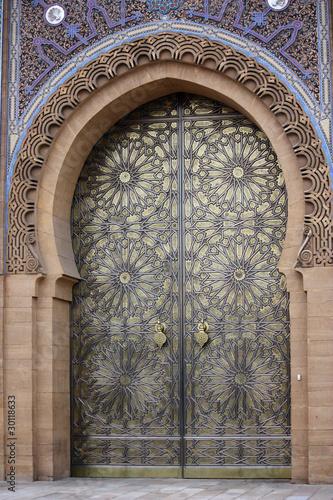 Poster Maroc La porta del palazzo reale di Casablanca - Marocco