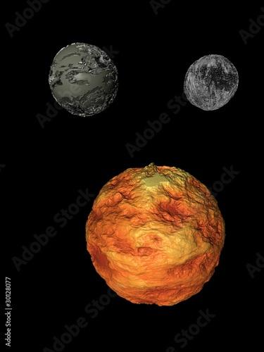 Deurstickers Nasa asteroids