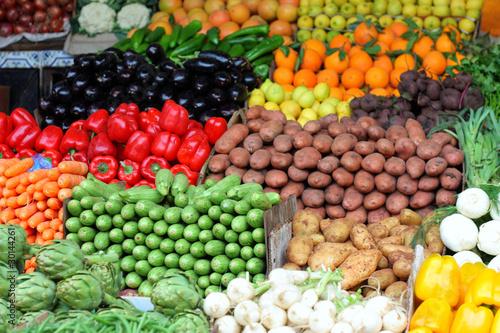 Recess Fitting Morocco Banco di verdura nel souk di Marrakech - Marocco