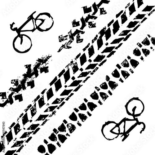 Fotografie, Obraz  Отпечаток колеса