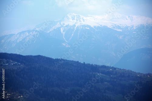 Foto op Aluminium Nachtblauw top of mountains